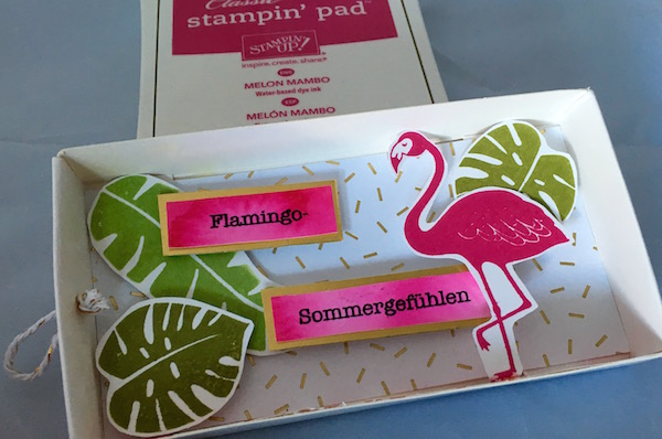 Flamingobox offen